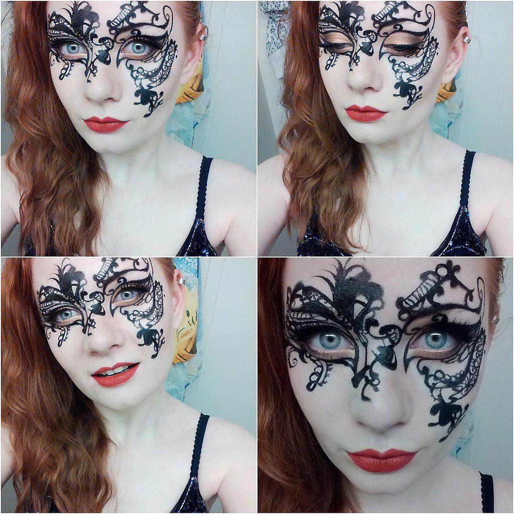 Masquerade Makeup   Eyeliner pen, Dr. who and Masquerade masks
