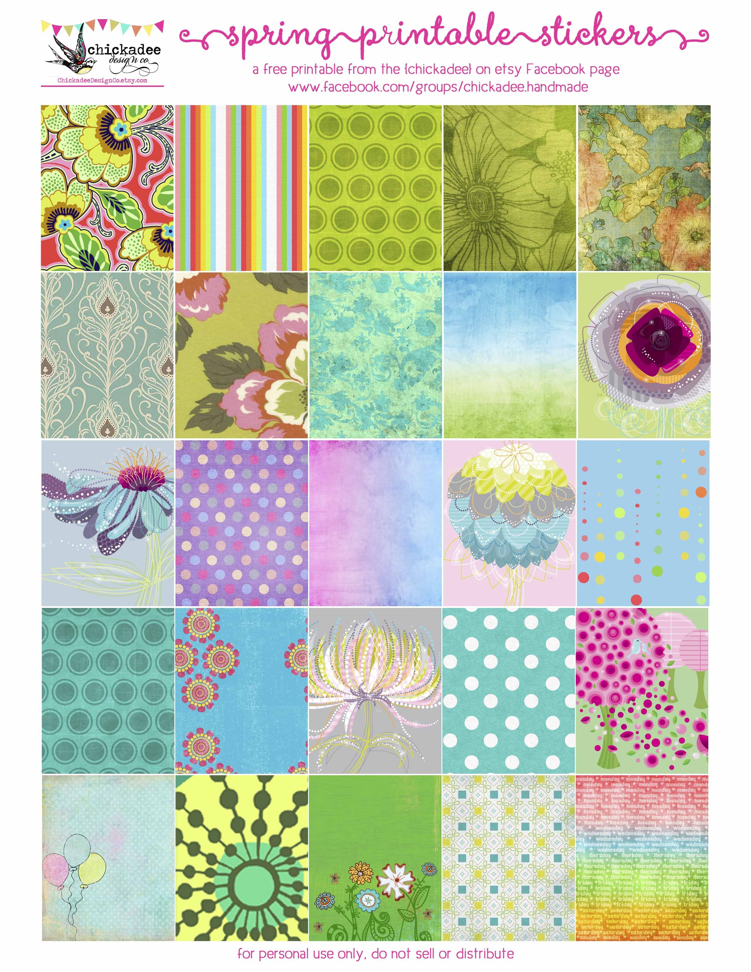 Beautiful Printable Spring Stickers For Your Planner Download Them At