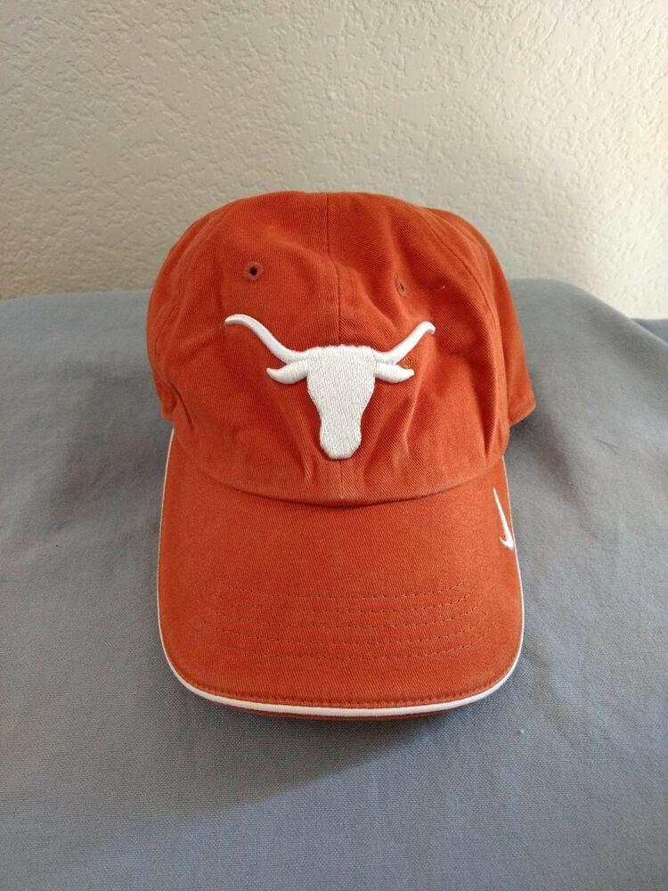 da5a55c401db8 Nike Orange Texas Longhorns Baseball Trucker Cap Hat Adjustable  Nike   Trucker