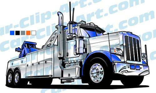Peterbilt Heavy Duty Tow Truck Clip Art Custom Trucks Custom