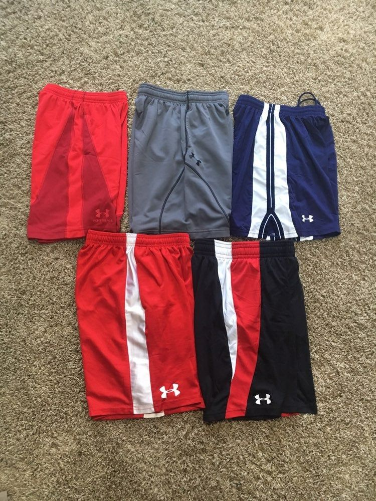 5 Pairs Of Barely Worn Under Armour Youth Small Shorts All Pairs Are Youth Small Except For Black And Red Pa Boy Clothing Youth Under Armour Gym Shorts Womens