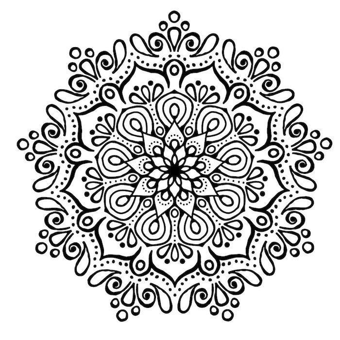 1001 Ideen Und Bilder Zum Thema Mandala Blumen Alice Pinset Mandala Blumen Mandala Blumen Tattoo Mandala Zum Ausdrucken