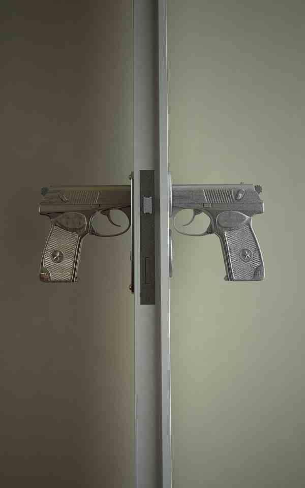 Soviet pistol door handle