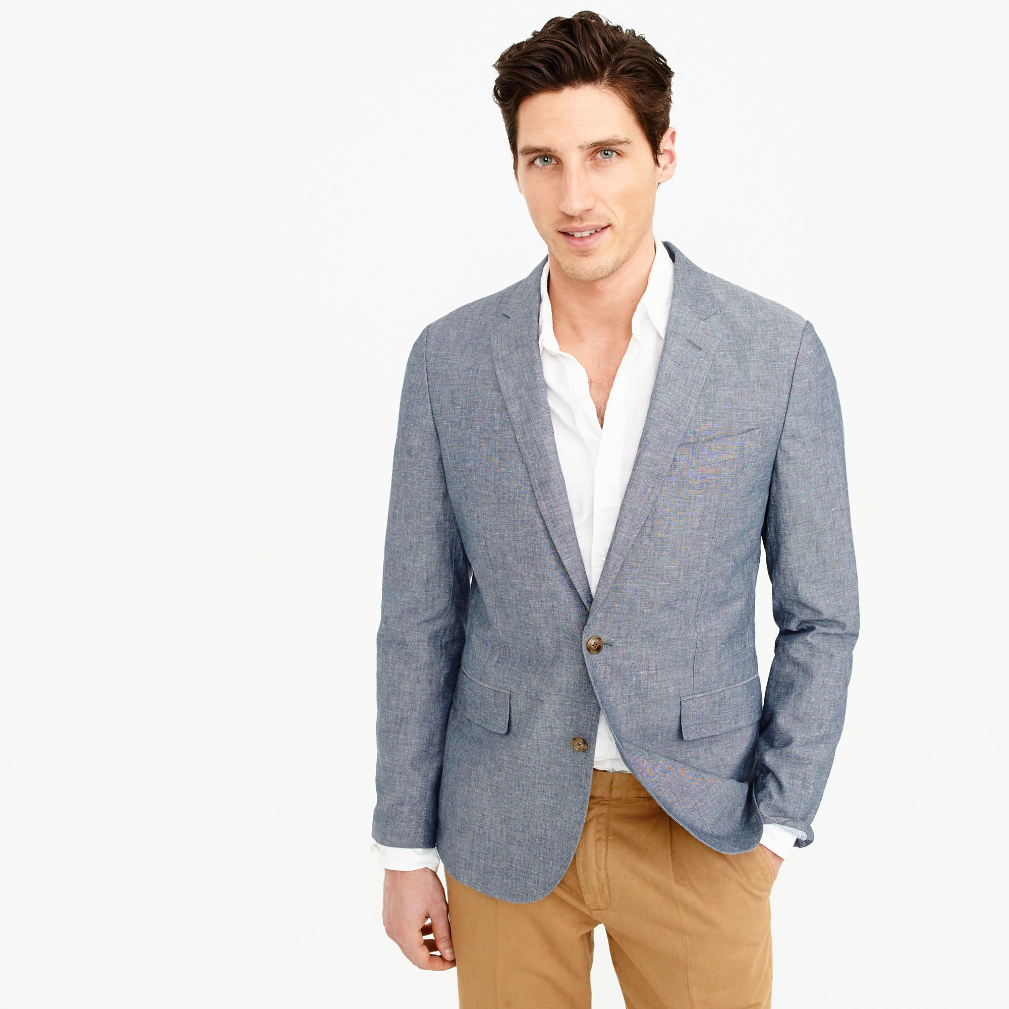 J.CREW LUDLOW UNSTRUCTURED SUIT JACKET - Americana - deep water DIuk0I5