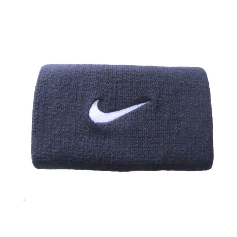 "Nike Swoosh Wristbands 3/"" Black//White Mens Women/'s OSFM"