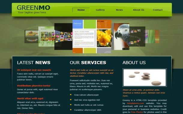 Css Website Templates Green Nature Css Template Download