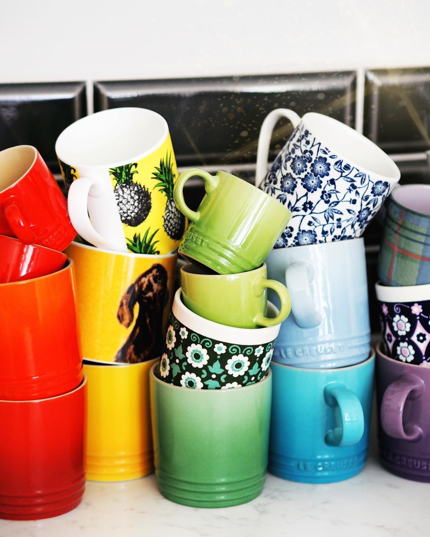 Le Creuset Rainbow Mugs Kitchen Colourful Gift Guide Safe Gift Woodsy Fragrance