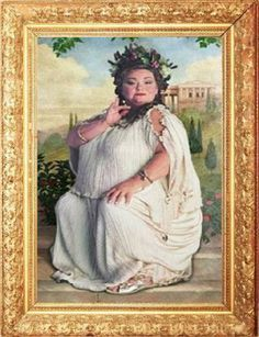 fat lady painting wall art harry potter how did i miss all