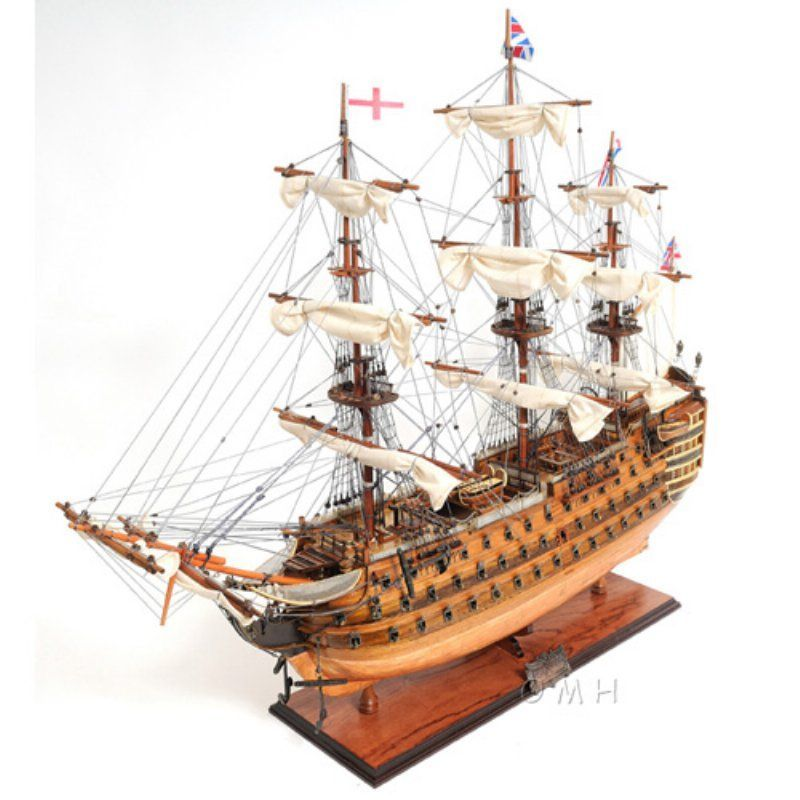 Old Modern Handicraft Hms Victory Copper Bottom Ship - T212