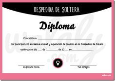 Souvenir Mini Diploma Despedida De Soltera Despedia De Soltera Juegos Despedida De Soltera Invitacion Despedida De Soltera