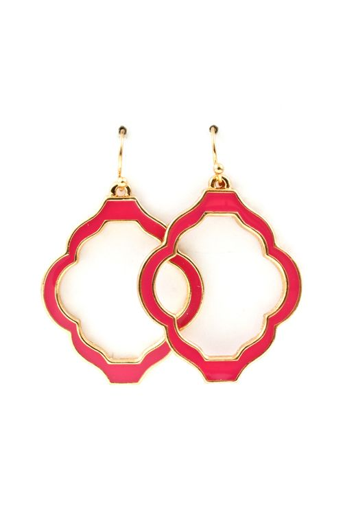 Madison Cutout Earrings in Raspberry Fuchsia