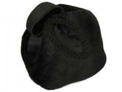 Black Fabric 50s Sculptured Hat Trikki by Edna Wallace