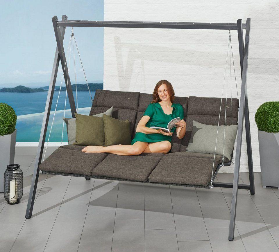 angerer freizeitmÖbel hollywoodschaukel »relax «, 3-sitzer, grün in