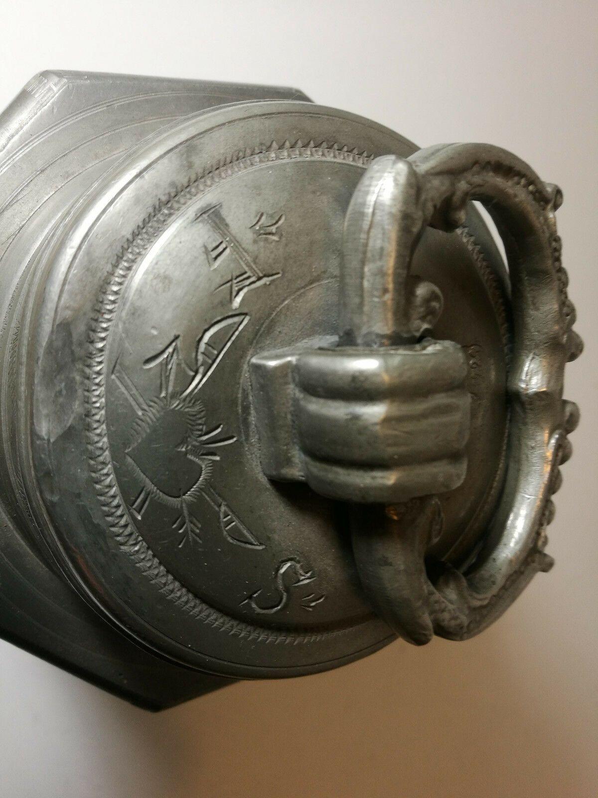 1724 Schraubkanne Schraubflasche Barock Zinn Pewter Bottle Ebay Zinn Flaschen Ebay