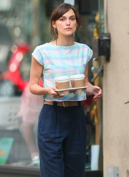 """Keira Knightley Photos - Actress Keira Knightley was busy filming her latest movie """"Can a Song Save Your Life?"""" in the West Village area of New York on July 2, 2012. - Keira Knightley Keeps Busy With Work"""