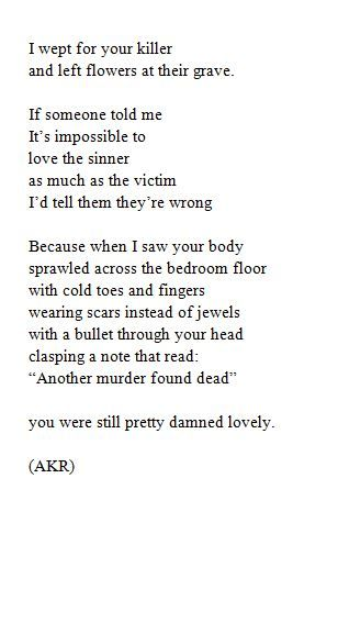 Death poetry analysis