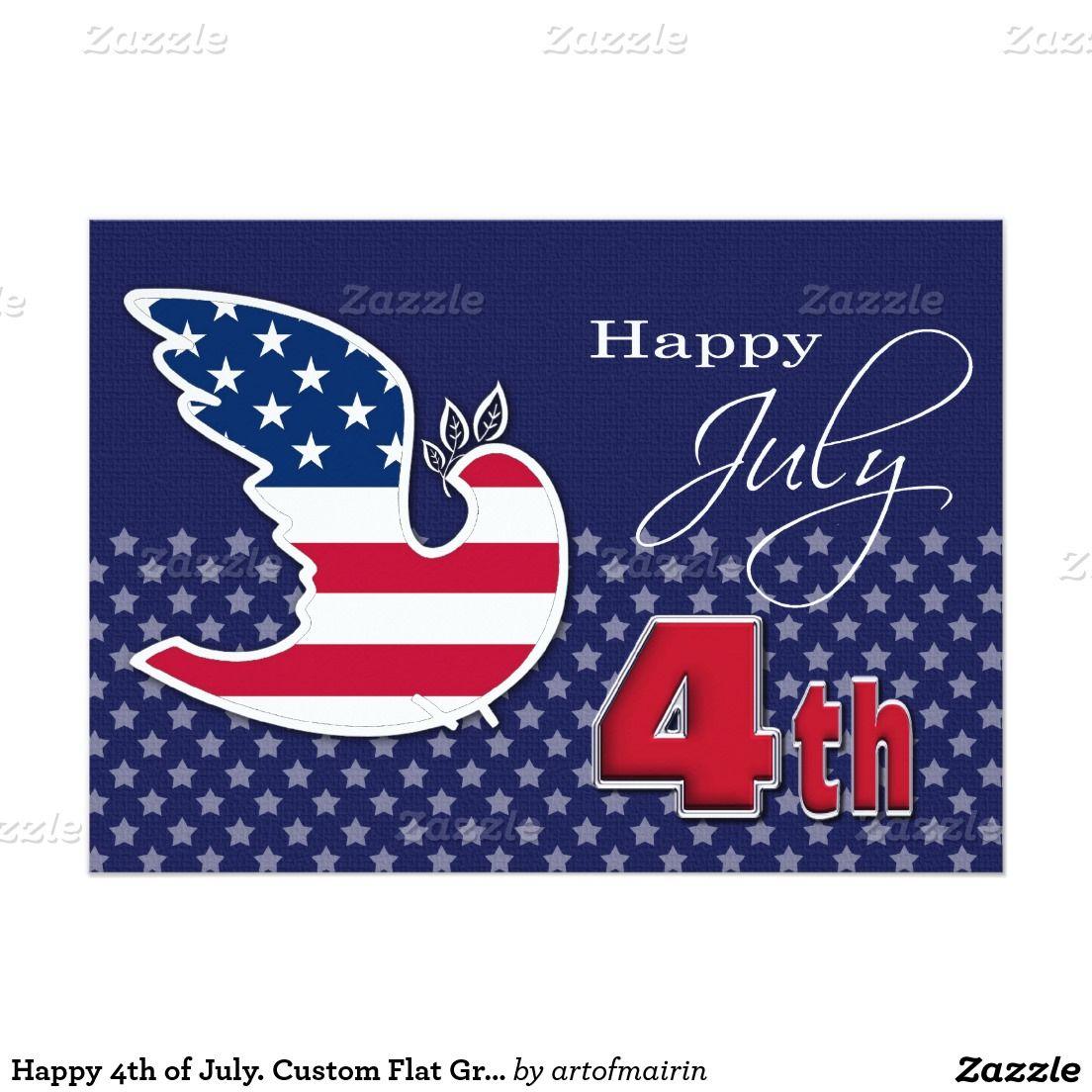 Happy 4th of july custom flat greeting cards party invitations custom flat greeting cards m4hsunfo