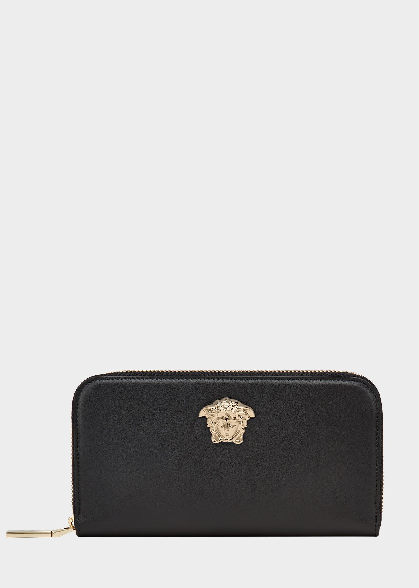 79e8bf19cf6c Palazzo Zip Leather Wallet - Black Small Accessories