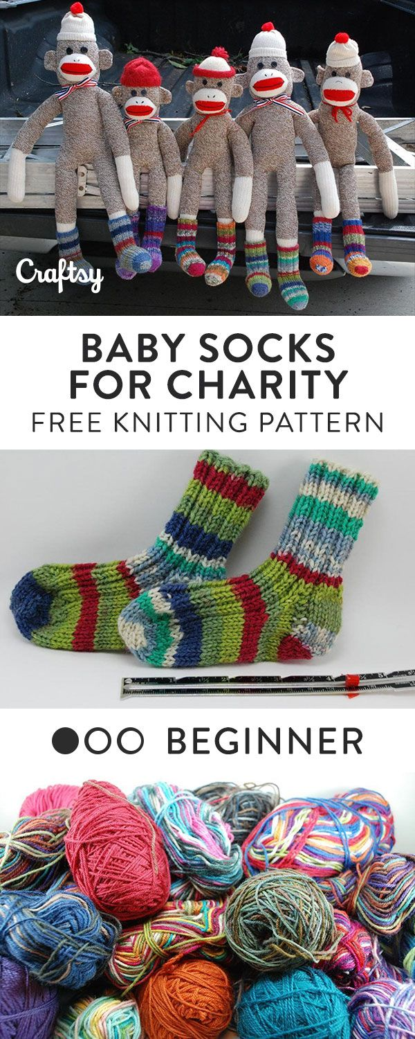 These tiny socks are a perfect way to warm up babies and to use up ...