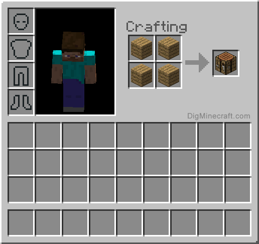 How to make a crafting table in minecraft and more for Make a craft table