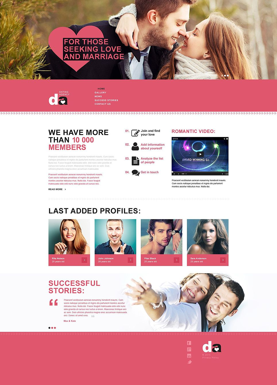 dating muse template typography design pinterest templates