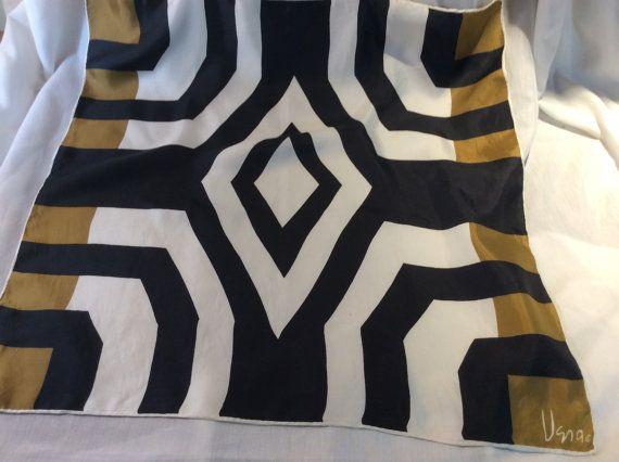 Vintage Vera Neumann Silk Scarf Designer Silk by ProctorCreations - this is just so cool!  Vera Neumann was one talented woman.