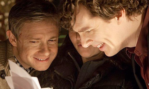 """RADIO TIMES (August 27, 2014) ~ Martin Freeman on the upcoming SHERLOCK Season 4 plot twists: """"Oh man, it's just so exciting."""" [Click for article]"""
