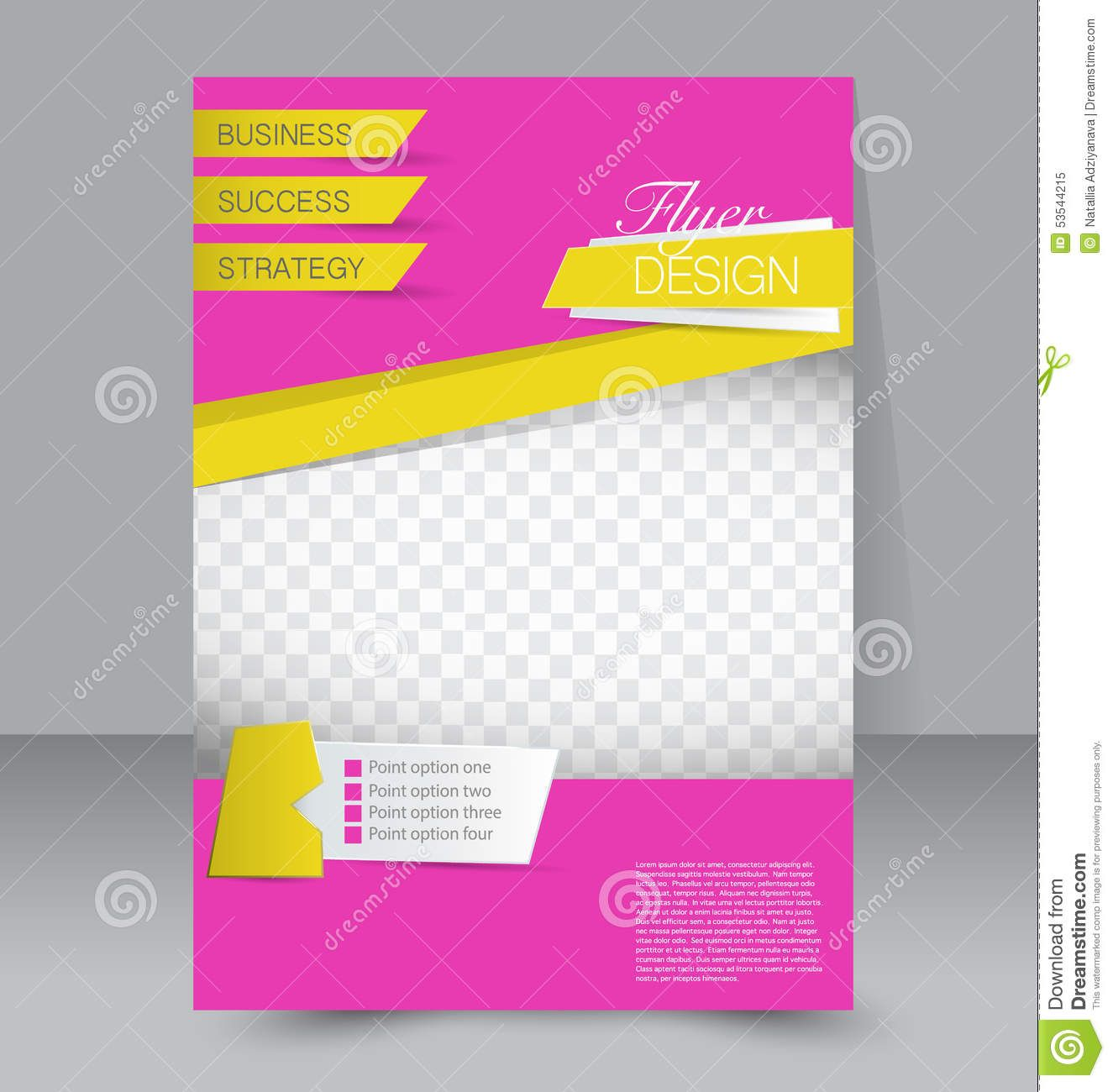 Flyer Template Business Brochure Editable Poster Stock Vector