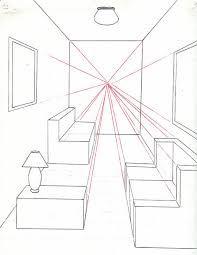 Resultado de imagen para dibujo de una habitacion con un for Exterior un punto de fuga
