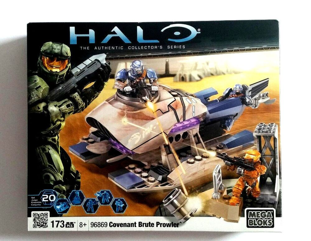 Mega bloks 97004 halo covenant brute prowler attack complete with.