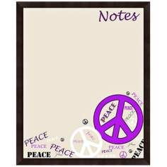 "Peace Notes 22"" High Brown Framed Organizational Memo Board"