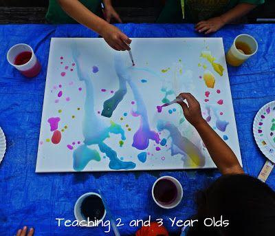 Preschool Canvas Art Teaching 2 And 3 Year Olds Art Activities For Kids Preschool Art Painting Activities