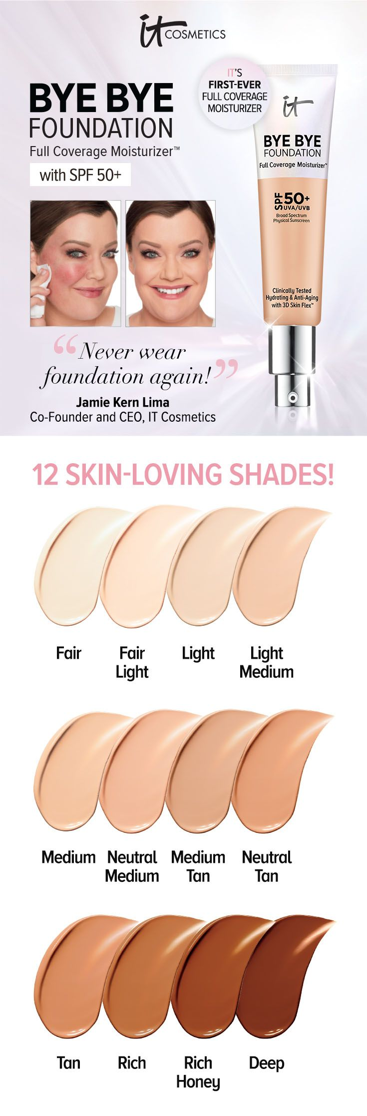 Bye Bye Foundation Full Coverage Moisturizer SPF 50+ by IT Cosmetics #9