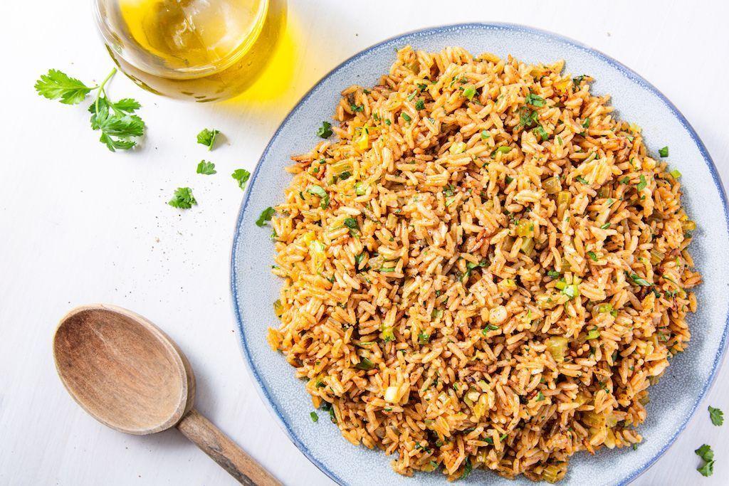 Spiced Jasmine Rice Pilaf #easyricepilaf This Easy Spiced Rice Pilaf Is The Perfect SideDelish #easyricepilaf
