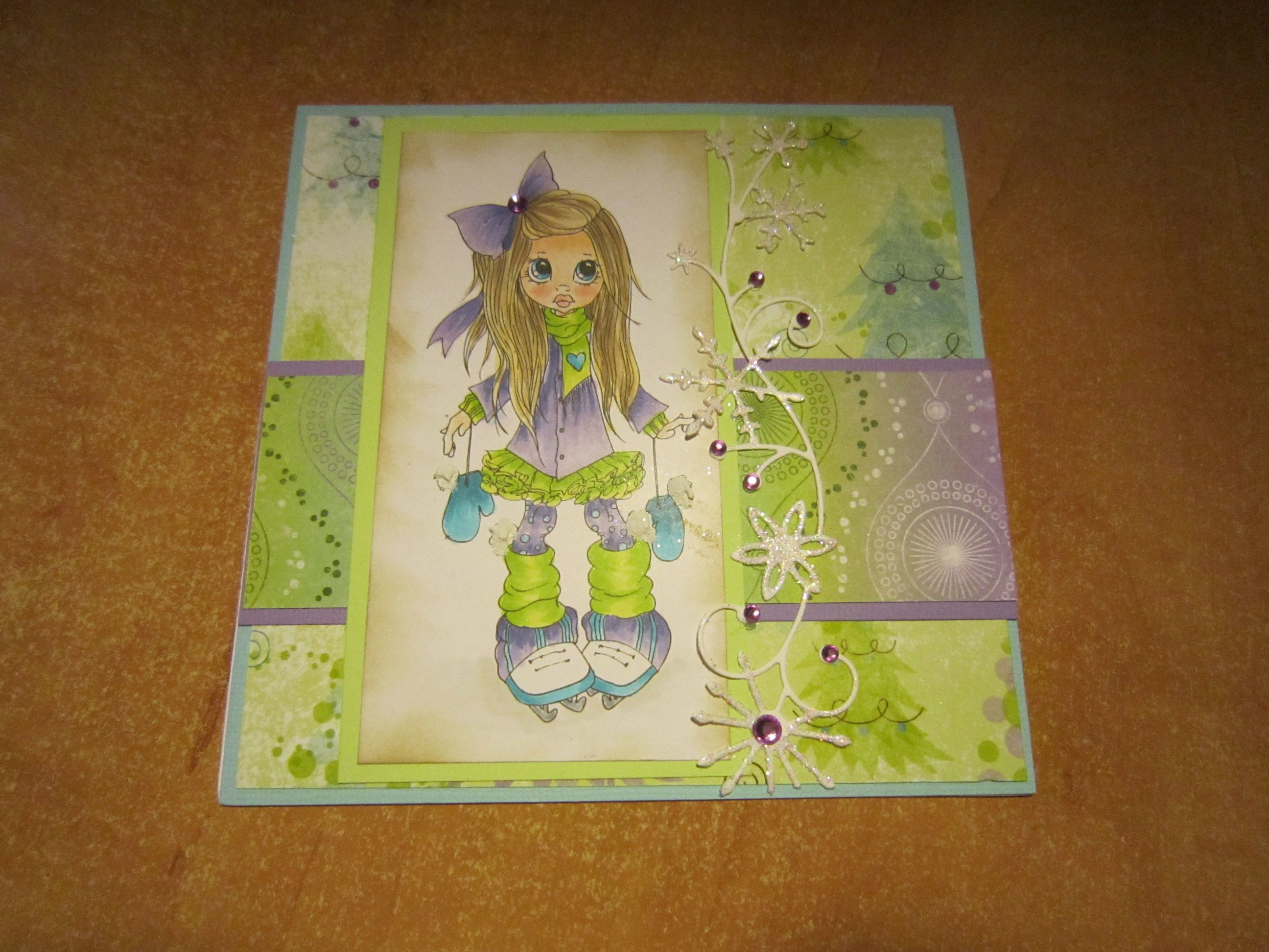 christmas saturated canary 6  zelda characters i card