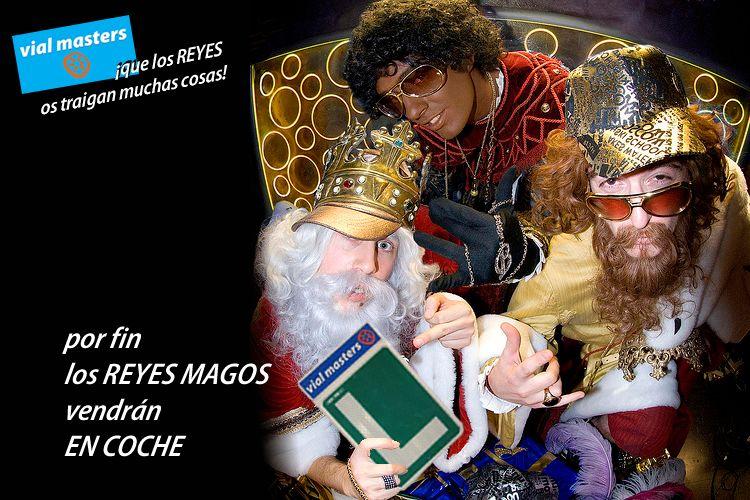 ¡Que los reyes magos os traigan muchas cosas! Autoescuelas Vial Masters!