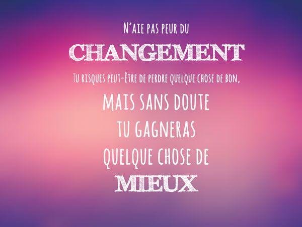 Citation Changement Citation Phrase Qui Fait Reflechir Pensee