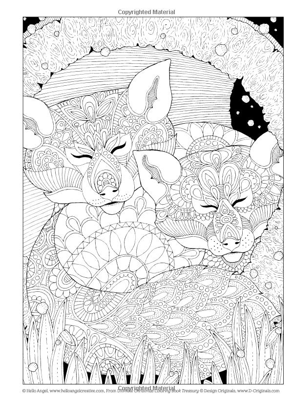 Última Navidad para colorear Tesoro del libro: Color de la temporada ...