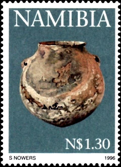 Stamp%3A%20Large%20storage%20vessel.%20(Namibia)%20(Early%20Pastoral%20Pottery)%20Mi%3ANA%20827%2CSn%3ANA%20815%2CYt%3ANA%20779%20%23colnect%20%23collection%20%23stamps