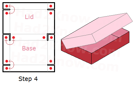 how to fold a rectangular box with a lid