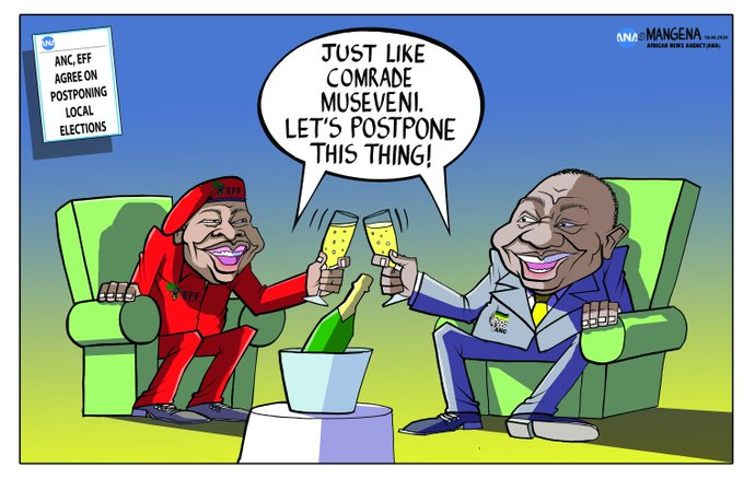 #EFF #JuliusMalema #ANC #PresidentRamaphosa - Bethuel Mangena (@Mangenatoons) / Twitter - June 2020