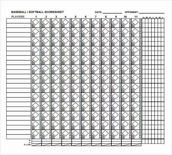 Blank Baseball Card Template Inspirational 8 Sample Baseball Score