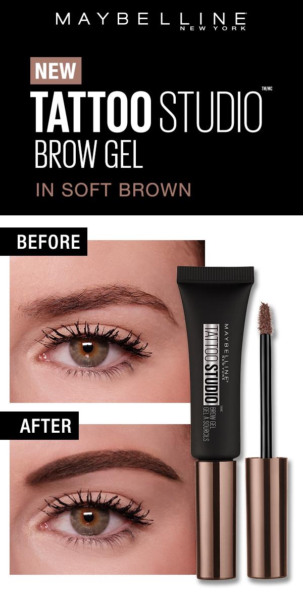 Tattoo Studio Waterproof Eyebrow Gel Creates Fuller Looking