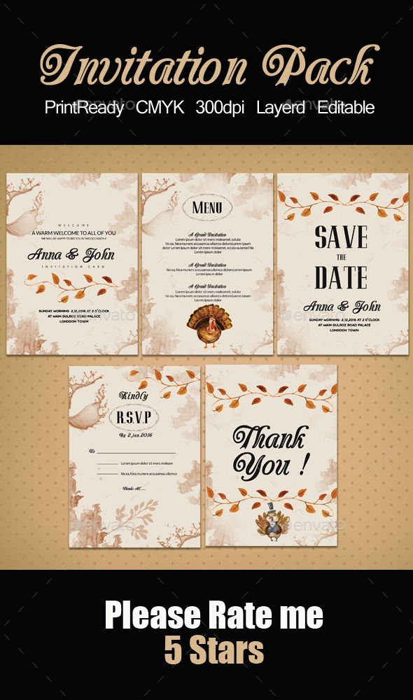 Invitation Pack Templates  Business Flyer Templates Business