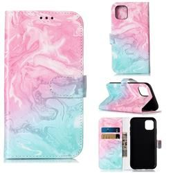 Pink Green Marble PU Leather Wallet Case for iPhone 11 (6.1 inch) #iphone11pro