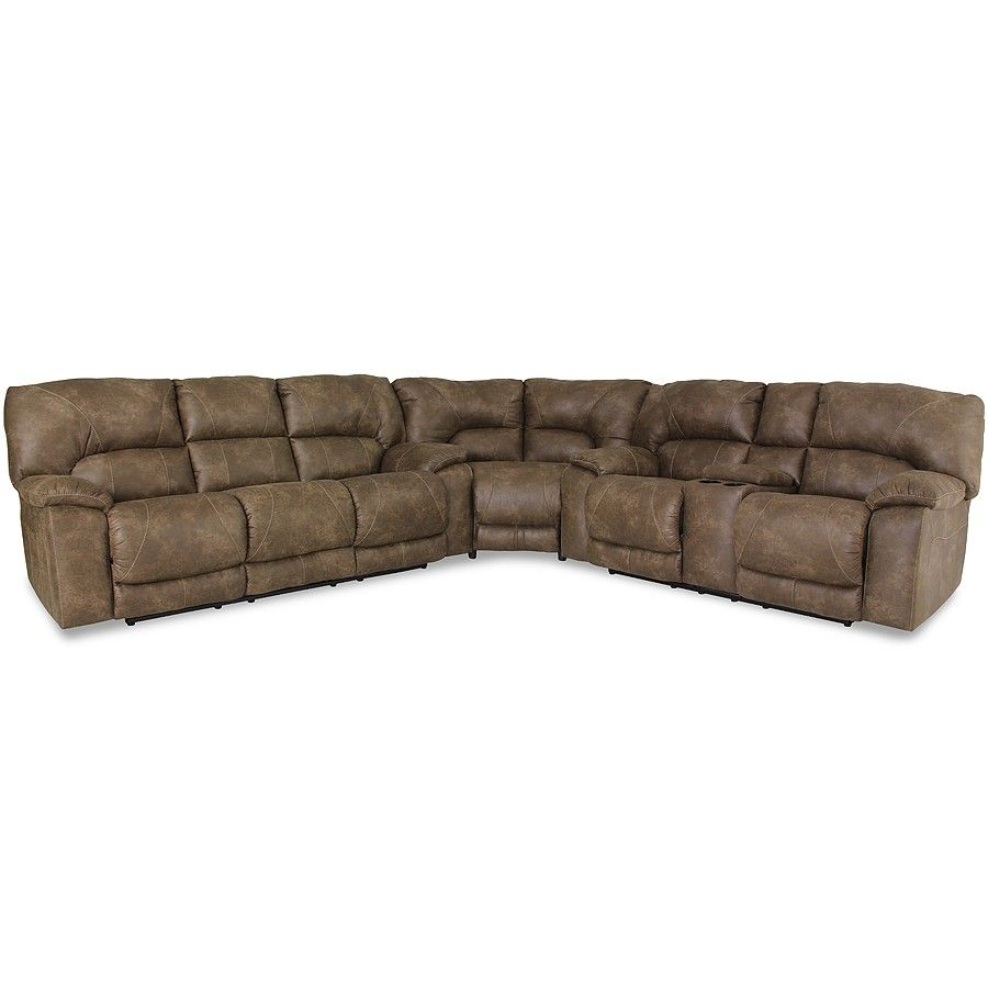 Home Stretch Designs Palance Silt Brown Reclining Sectional Sofa