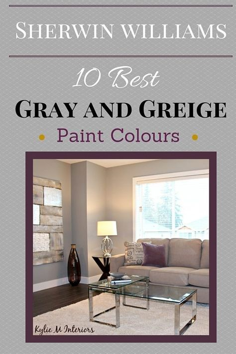 Sherwin Williams Best Gray And Greige Neutral Paint Colours By Kylie  Interiors Color Consultant Also Colour