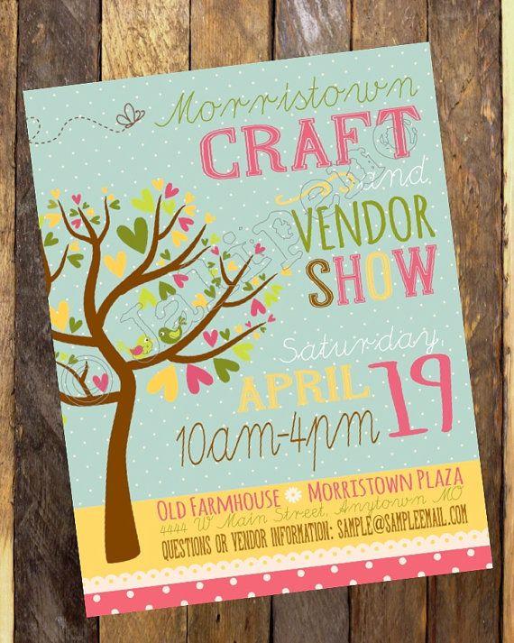 Spring Craft Show \/ Fair \/ Vendor Market \/ Craft Boutique \/ Show - free open house flyers
