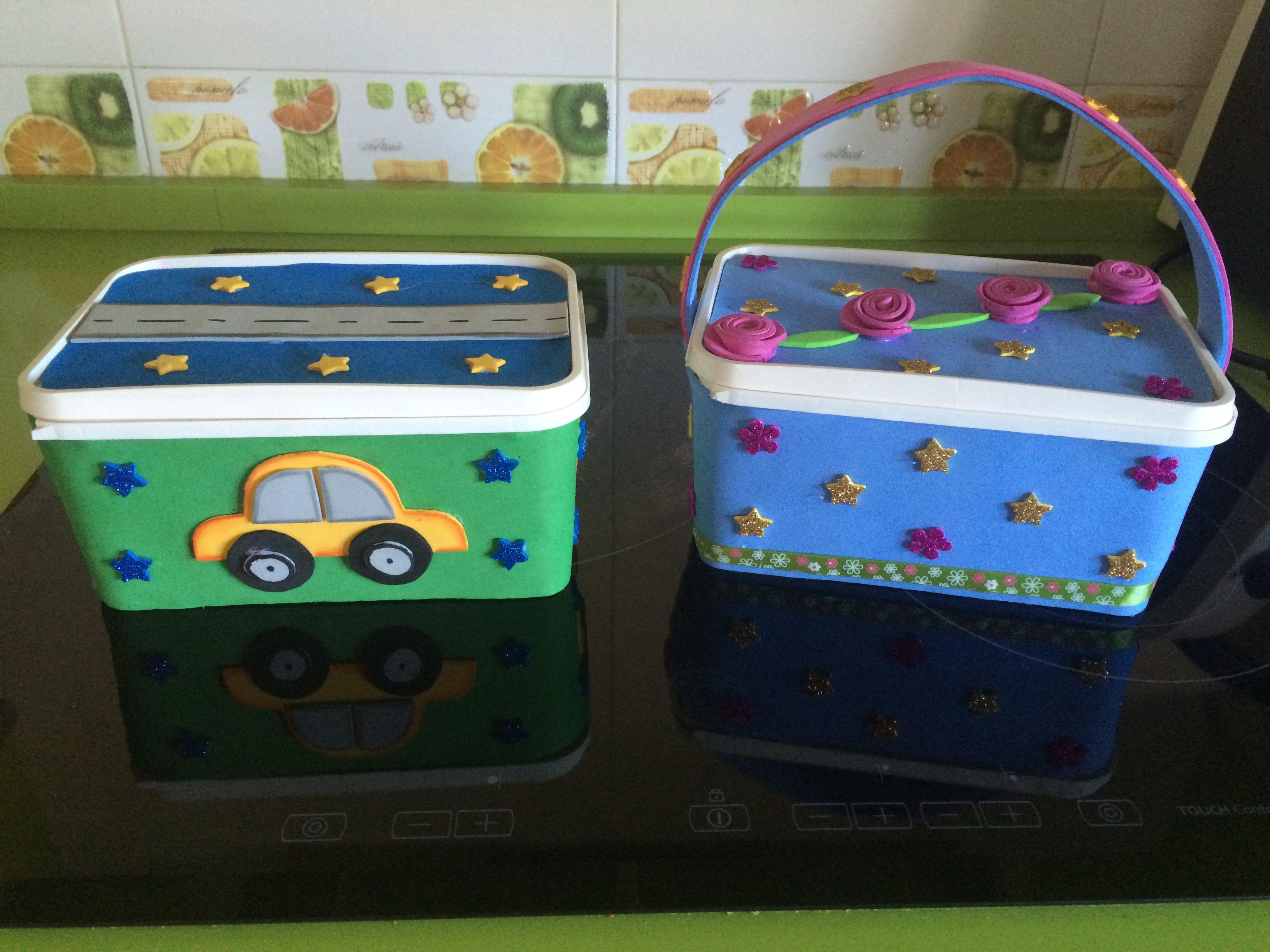 cajas decoradas ideales para guardar juguetes pequeos o utensilios de pintura costura etc decorative boxesgoma evasewing