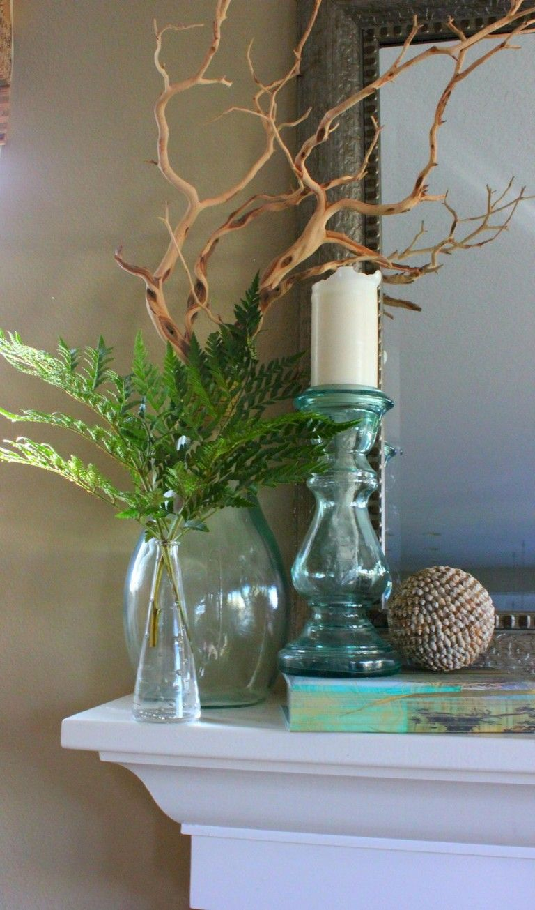 35+ Amazing Spring Mantel Decorating Ideas On A Budget images